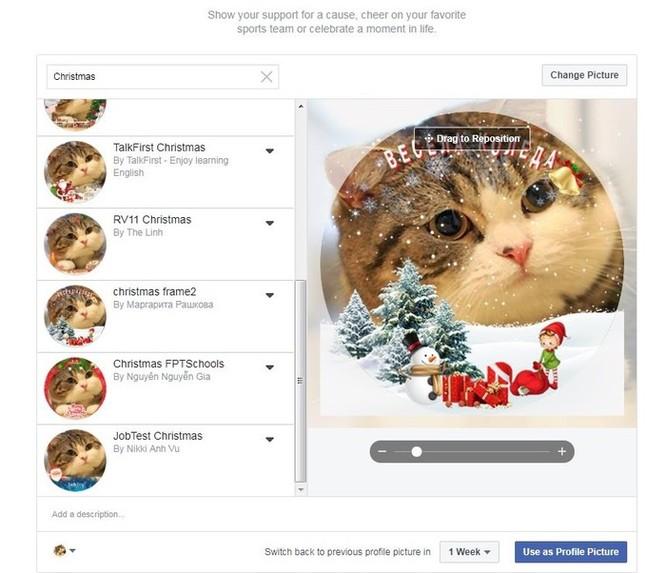 Hướng dẫn thay khung ảnh đại diện Facebook chủ đề Giáng sinh ảnh 2