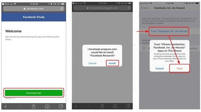 Facebook trả 20 USD/tháng để theo dõi điện thoại người dùng ảnh 2