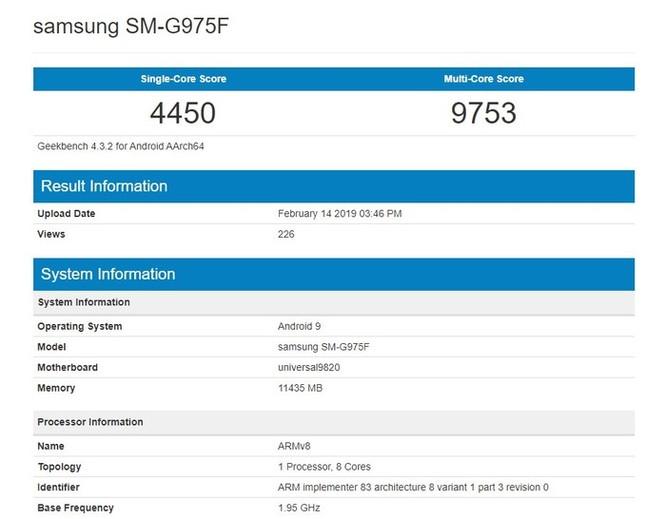 Lộ điểm hiệu năng kỷ lục của Galaxy S10+ ảnh 2