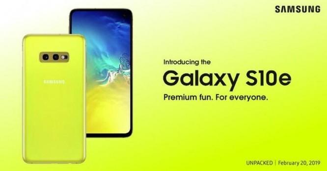 Galaxy S10e sẽ có màu vàng, cạnh tranh với iPhone XR ảnh 1