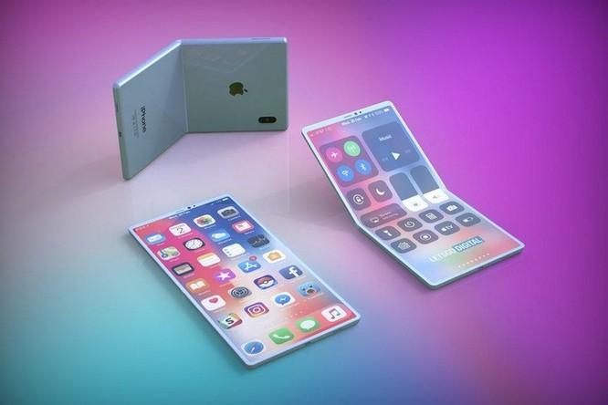 Hình dung về iPhone màn hình gập của Apple ảnh 1