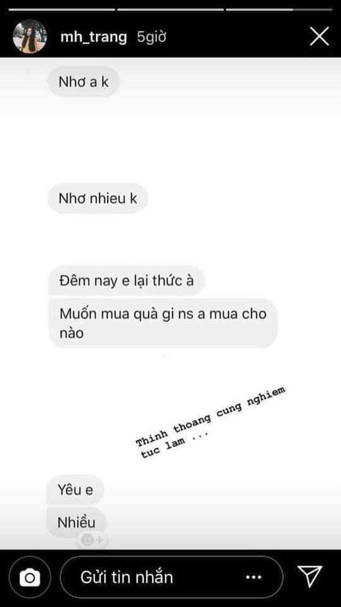 Bạn gái tin đồn đăng đoạn chat tình cảm, fan gọi tên Hà Đức Chinh ảnh 2