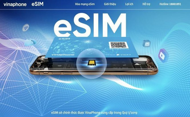 Từ ngày 11/3/2019, VinaPhone cung cấp eSim trên toàn quốc ảnh 1
