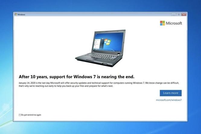 Cái chết của Windows 7 đang đến gần ảnh 1