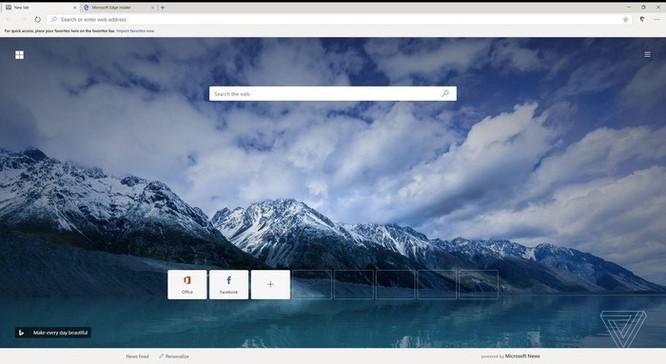 Cái nhìn đầu tiên về trình duyệt Edge mới dùng nhân giống Chrome ảnh 1