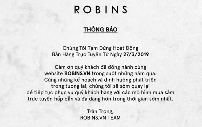 Central Group đóng cửa sàn thương mại điện tử Robins.vn ảnh 1