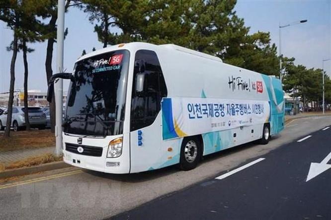 Hàn Quốc thử nghiệm trên thực địa xe buýt tự lái sử dụng mạng 5G ảnh 1
