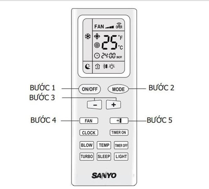 Hướng dẫn sử dụng remote máy lạnh Sanyo ảnh 4