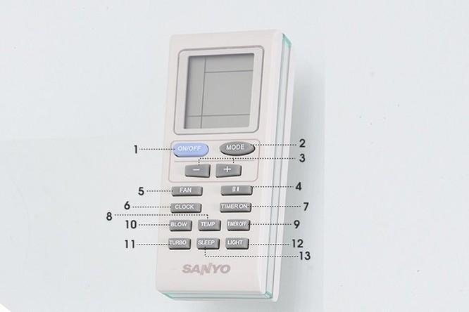 Hướng dẫn sử dụng remote máy lạnh Sanyo ảnh 1