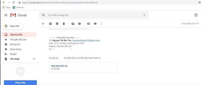 Cảnh báo hình thức tấn công qua email 'đòi nợ', phát tán virus để chiếm máy người dùng ảnh 1