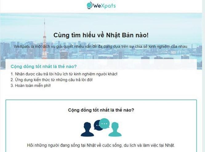 WeXpats - trang web hỗ trợ người Việt quan tâm tới Nhật Bản ảnh 1