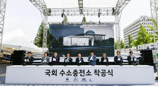 Hàn Quốc: Hyundai xây trạm sạc hydro cho xe ôtô tại tòa nhà Quốc hội ảnh 1