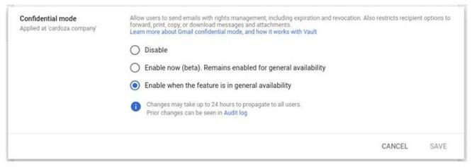 Google mở chế độ 'mật' Gmail cho tất cả người dùng từ tháng sau ảnh 1