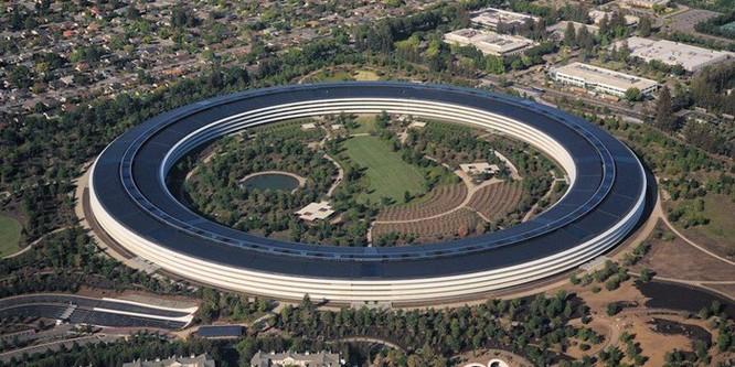 Trụ sở phi thuyền Apple không dính liền mặt đất mà nằm trên 700 mâm thép khổng lồ ảnh 1