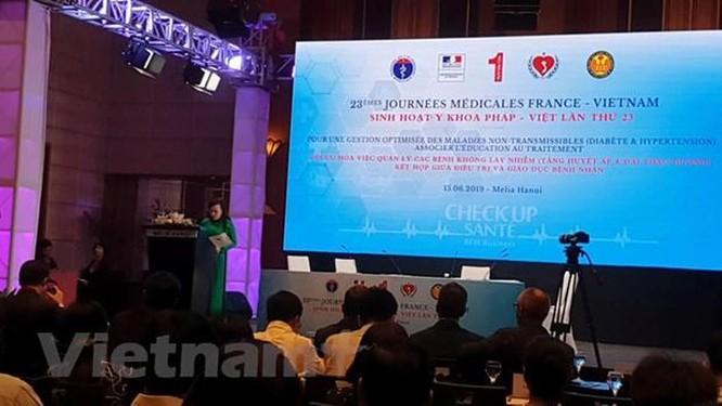 Bác sỹ đầu ngành của Pháp-Việt trao đổi về bệnh không lây nhiễm ảnh 2
