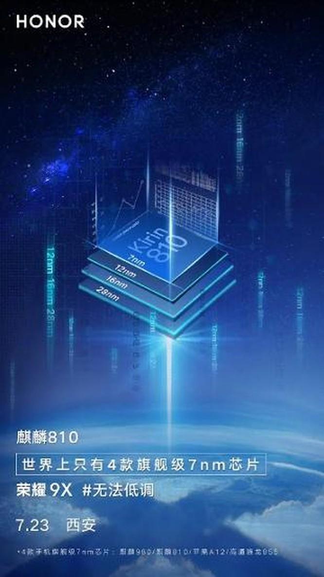Honor 9X sẽ sử dụng chipset Kirin 810 mạnh mẽ ảnh 2