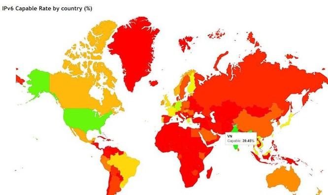 Tăng 8 bậc trong nửa đầu năm nay, Việt Nam vươn lên thứ 5 thế giới về ứng dụng IPv6 ảnh 1
