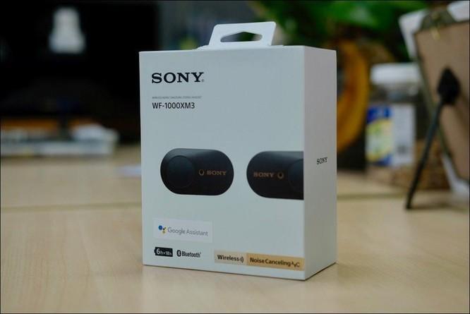 Mở hộp tai nghe Sony WF-1000XM3, tai nghe không dây chống ồn chủ động, giá 5,49 triệu đồng ảnh 2
