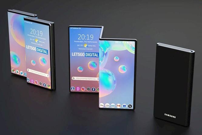Chưa ra mắt Galaxy Fold, Samsung đã đăng ký bản quyền smartphone gập làm ba ảnh 2