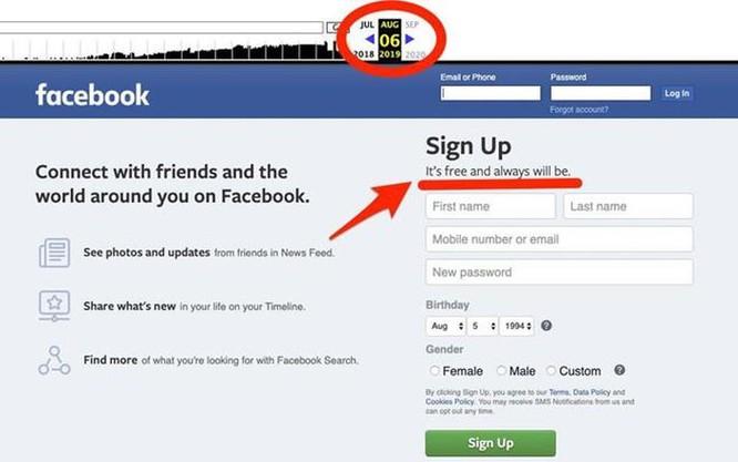 Facebook lặng lẽ đổi slogan, không còn 'miễn phí' ảnh 1