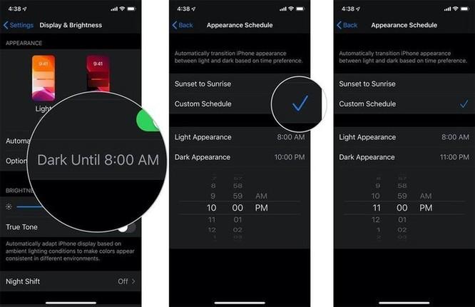 Hướng dẫn bật Dark Mode trên iOS 13 sau khi lên đời ảnh 6