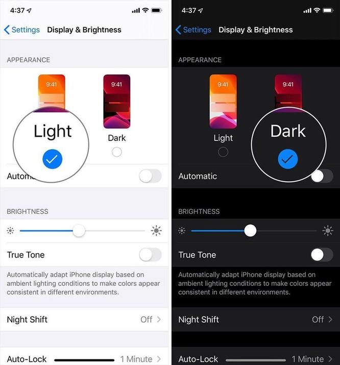 Hướng dẫn bật Dark Mode trên iOS 13 sau khi lên đời ảnh 5