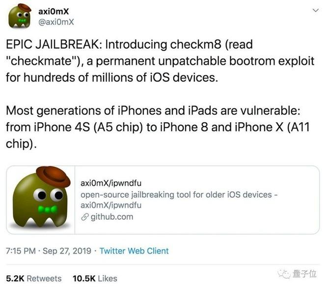 Phát hiện lỗ hổng cho phép jailbreak iPhone 4S đến iPhone X vĩnh viễn, Apple không thể vá được? ảnh 1