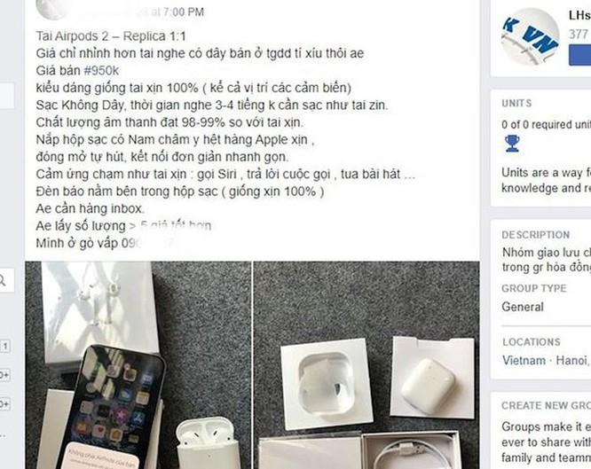 AirPods 2 nhái tràn về Việt Nam, giá chưa đến 1 triệu ảnh 1