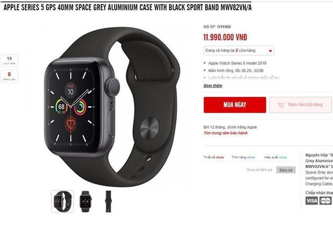 Apple Watch Series 5 chính hãng về Việt Nam, giá từ 11,6 triệu đồng ảnh 1