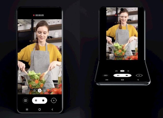 Xuất hiện smartphone concept Galaxy Fold vỏ sò ảnh 1