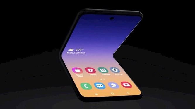 Xuất hiện smartphone concept Galaxy Fold vỏ sò ảnh 3