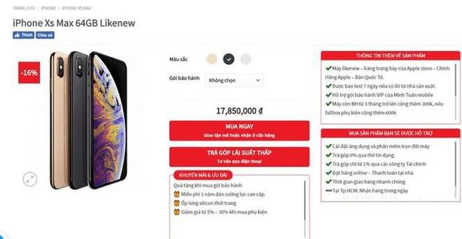 XS Max giảm giá tiền triệu trước ngày iPhone 11 chính hãng bán ra ảnh 1