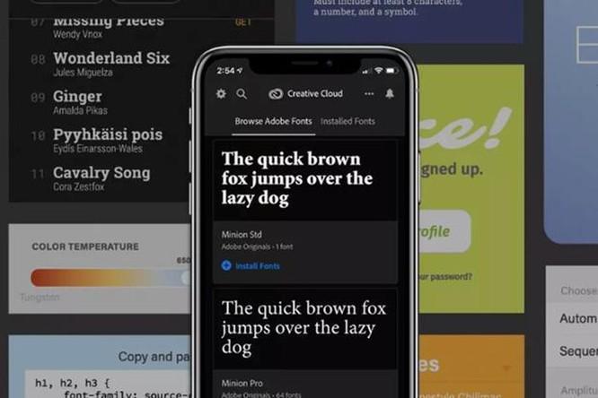 iPhone đang được cập nhật hàng nghìn phông chữ mới từ Adobe ảnh 1