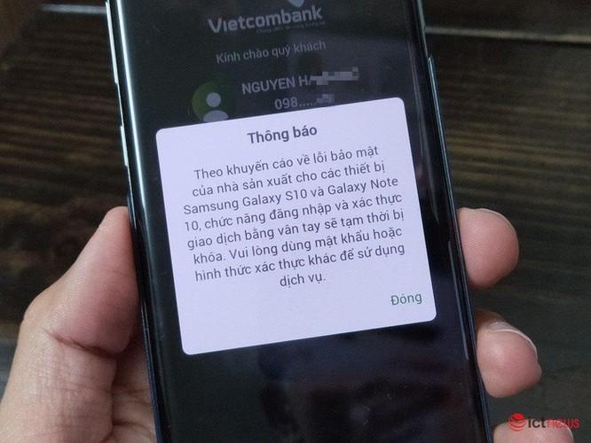 Ngân hàng Việt vẫn chặn tính năng mở khóa vân tay trên Galaxy S10/Note 10 ảnh 1