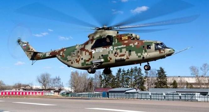 Nga bắt đầu thử nghiệm máy bay trực thăng hạng nặng Mi-26T2V ảnh 1