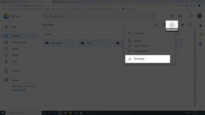 Hướng dẫn tải nhanh dữ liệu Google Drive toàn bộ về máy ảnh 3