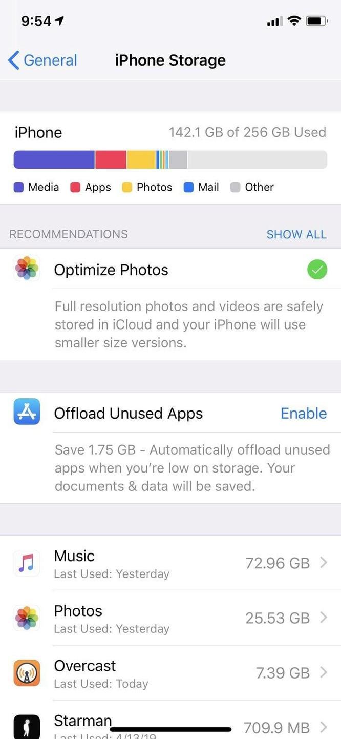 Hướng dẫn giải phóng bộ nhớ iPhone để lưu ảnh, ứng dụng ảnh 1