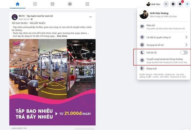 Hướng dẫn chuyển sang giao diện Facebook mới phiên bản 2020 ảnh 5