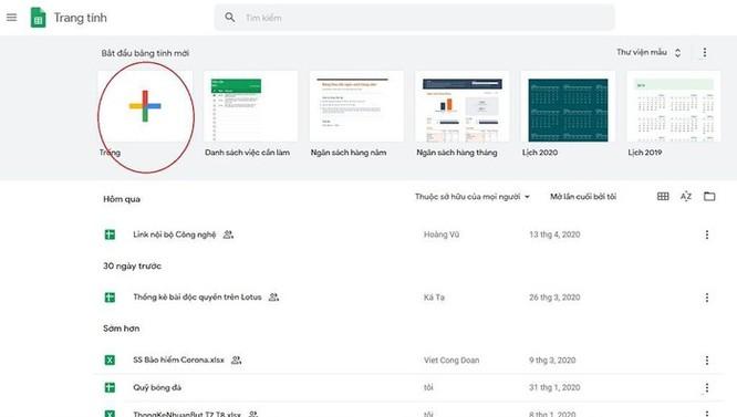 Hướng dẫn sử dụng Google Sheets cơ bản ảnh 3