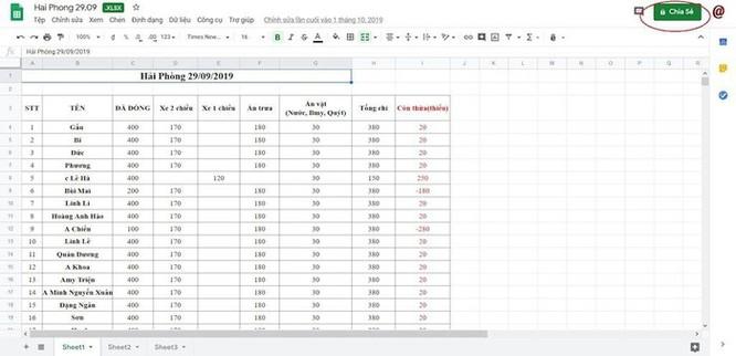 Hướng dẫn chia sẻ file Excel trên Google Drive ảnh 5