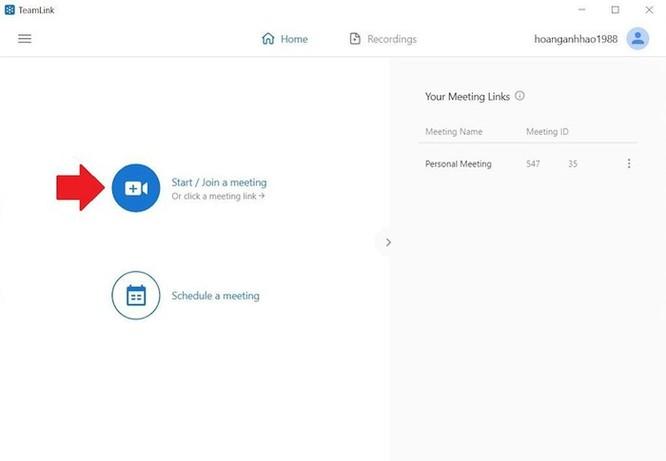 Hướng dẫn sử dụng TeamLink họp trực tuyến ảnh 5