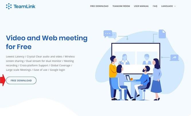 Hướng dẫn sử dụng TeamLink họp trực tuyến ảnh 1