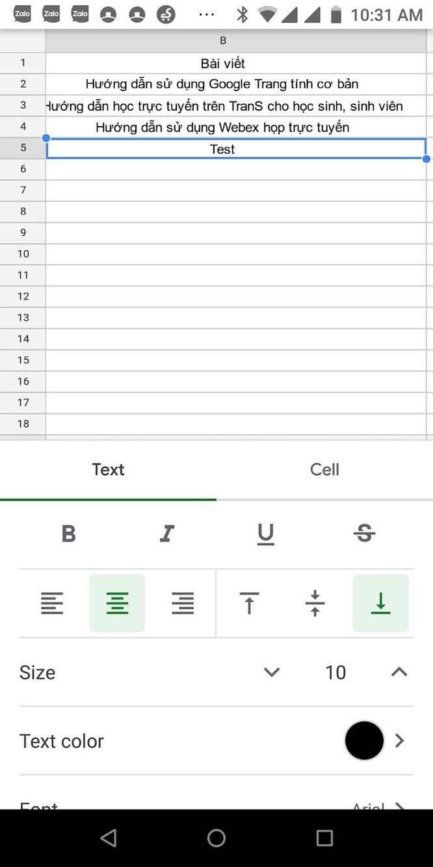 Hướng dẫn sử dụng Google Sheets trên điện thoại ảnh 5