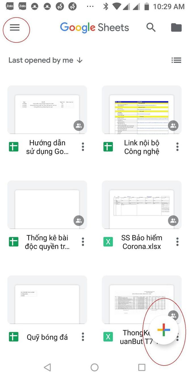 Hướng dẫn sử dụng Google Sheets trên điện thoại ảnh 1