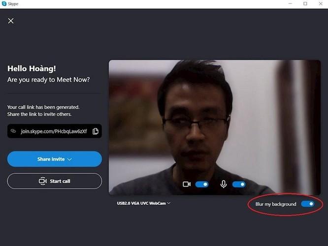 Hướng dẫn sử dụng Skype mới nhất: Tùy chọn phông nền ảnh 2