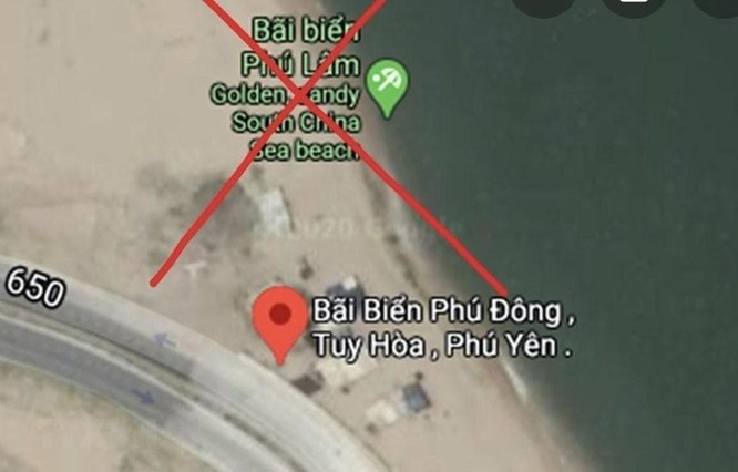 Google Maps đã gỡ bỏ thông tin sai sự thật về bãi biển Phú Lâm ảnh 1