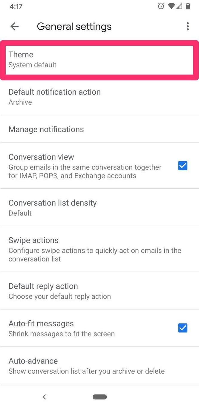 Hướng dẫn cài đặt giao diện Gmail nền tối trên điện thoại ảnh 4
