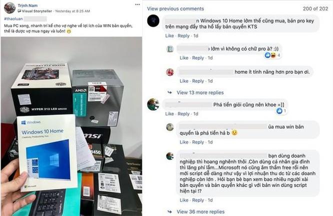 Khoe mua bản quyền Windows, người dùng bị dân mạng nói 'phí tiền' ảnh 1