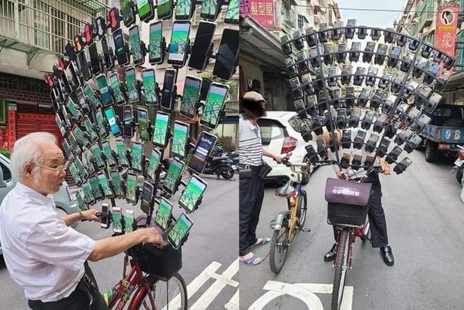 Ông cụ dùng 64 smartphone để chơi Pokemon Go ảnh 1