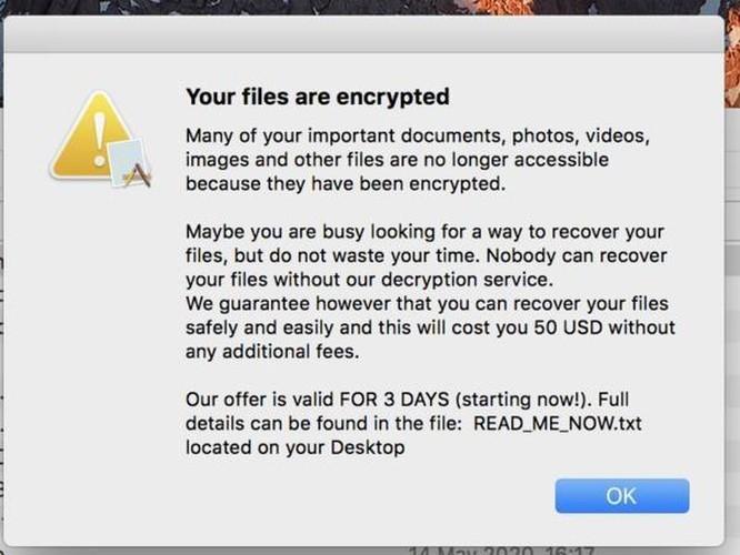 Chuyên gia Việt cảnh báo mã độc tống tiền mới phát hiện trên MacOS ảnh 2